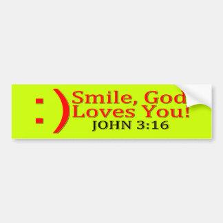 Usted del amor cristiano de dios pegatina de parachoque