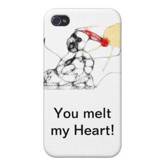 usted derrite mi caja de Iphone del corazón iPhone 4 Fundas