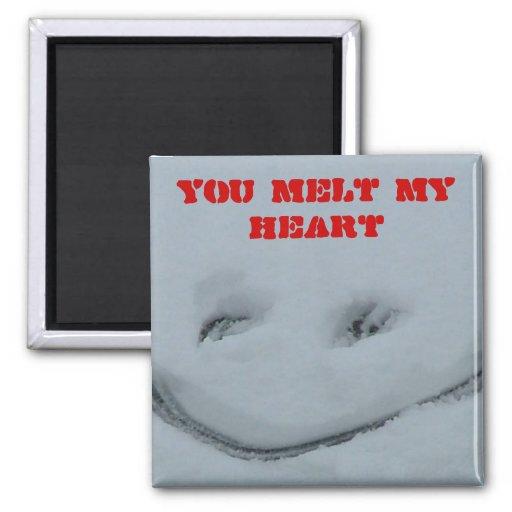 Usted derrite mi corazón imanes