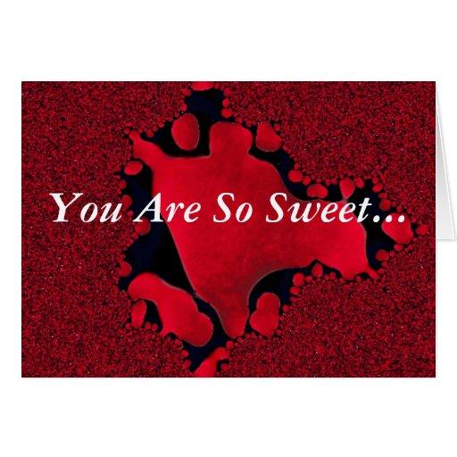 ¡Usted derrite mi corazón! productos múltiples Tarjeta De Felicitación