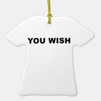 Usted desea adorno de cerámica en forma de camiseta