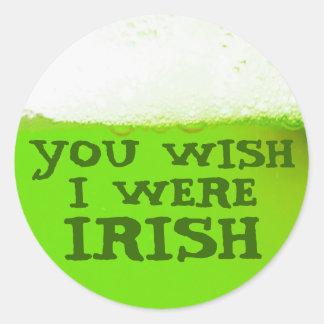 Usted desea que fuera pegatina verde irlandés de