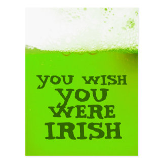 Usted desea que usted fuera postal verde irlandesa