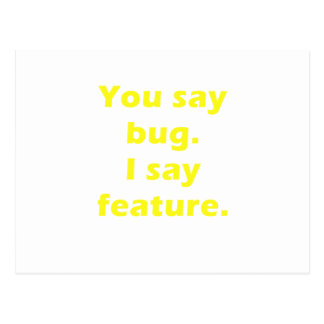 Usted dice el insecto que digo la característica postal