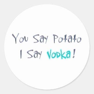 Usted dice la patata que digo al pegatina de la