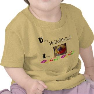 Usted dice que hola hola digo halo del halo camisetas