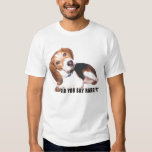¿Usted dijo el conejo? Camiseta del beagle Remera