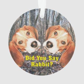¿Usted dijo el conejo? Ornamento del navidad del