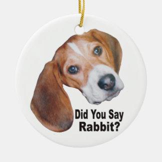 ¿Usted dijo el conejo? Ornamento del navidad del Adorno Navideño Redondo De Cerámica