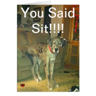 ¡Usted dijo Sit!!!!! Tarjeta De Felicitación