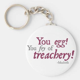 ¡Usted Egg!  ¡Usted fritada de la traición! Llavero