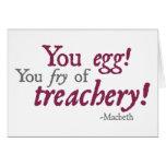¡Usted Egg!  ¡Usted fritada de la traición! Tarjeta