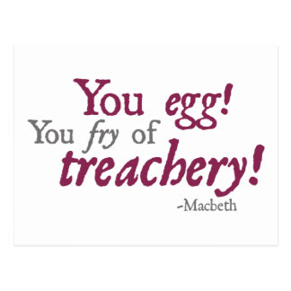 ¡Usted Egg!  ¡Usted fritada de la traición! Postal