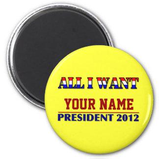 Usted elige al presidente - 2012 elecciones imán de frigorifico