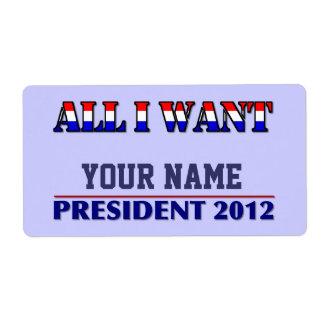 Usted elige al presidente - etiqueta conocida de