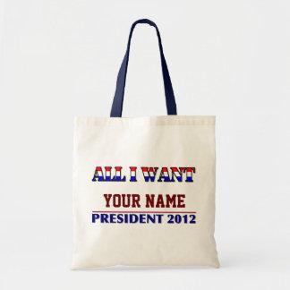 Usted elige al presidente - los artes y las compra bolsas lienzo
