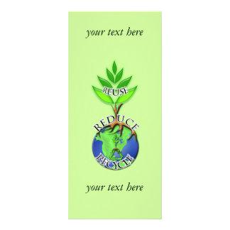 Usted elige color de fondo recicla la tarjeta del tarjeta publicitaria personalizada