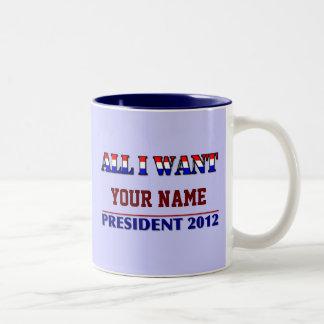 Usted elige el vidrio de la taza del presidente