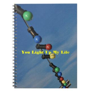 Usted enciende para arriba mi vida cuadernos