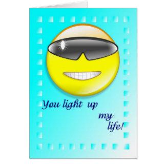 Usted enciende para arriba mi vida tarjeta de felicitación