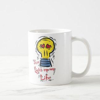 Usted enciende para arriba mi vida taza de café