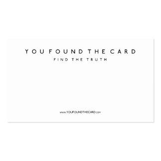 Usted encontró la tarjeta tarjetas de visita