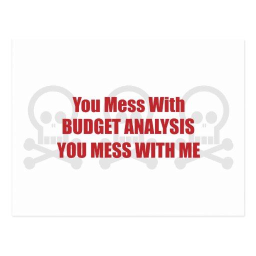 Usted ensucia con análisis del presupuesto que postal