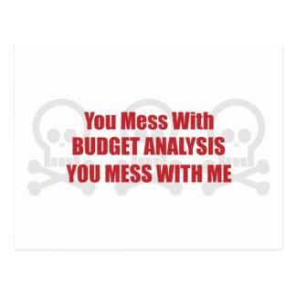 Usted ensucia con análisis del presupuesto que ust tarjeta postal