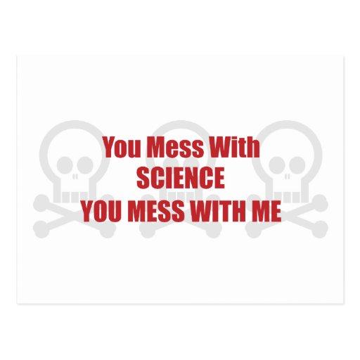 Usted ensucia con ciencia que usted ensucia postales