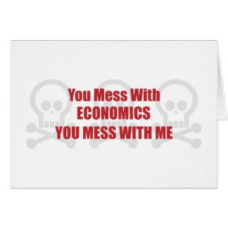 Usted ensucia con la economía que usted ensucia co tarjeton