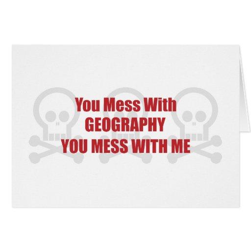 Usted ensucia con la geografía que usted ensucia c tarjetas