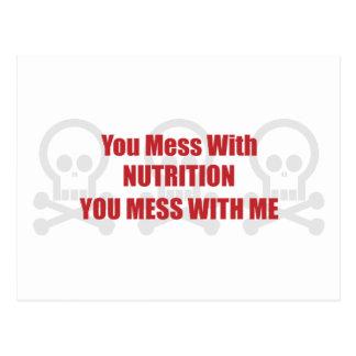 Usted ensucia con la nutrición que usted ensucia c postales
