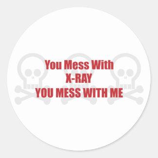 Usted ensucia con la radiografía que usted ensucia pegatina redonda