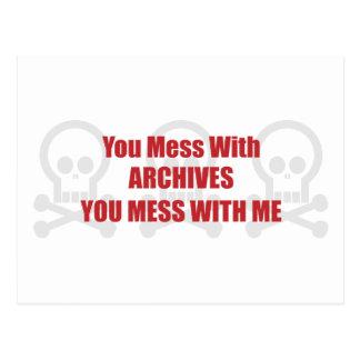Usted ensucia con los archivos que usted ensucia c tarjetas postales