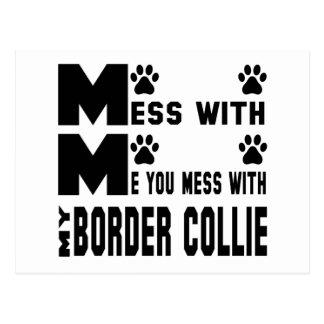 Usted ensucia con mi border collie postales