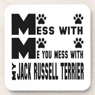 Usted ensucia con mi Jack Russell Terrier Posavaso