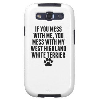 Usted ensucia con mi montaña Terrier blanco del Galaxy S3 Fundas
