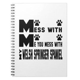 Usted ensucia con mi perro de aguas de saltador spiral notebooks