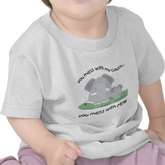 Usted ensucia con mi primo usted ensucia conmigo camiseta