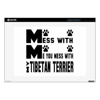 Usted ensucia con mi Terrier tibetano Portátil Calcomanía