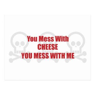 Usted ensucia con queso que usted ensucia conmigo tarjetas postales