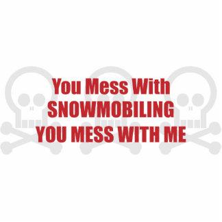 Usted ensucia con Snowmobiling le lío conmigo Esculturas Fotograficas