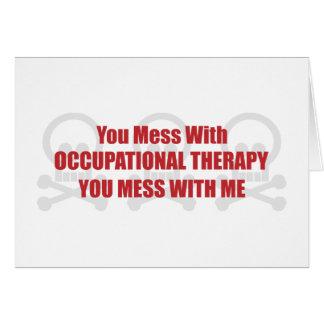 Usted ensucia con terapia profesional que usted en tarjeta de felicitación