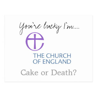 Usted es afortunado yo es iglesia de Inglaterra Tarjeta Postal
