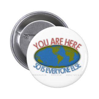 Usted es aquí ambiental pin