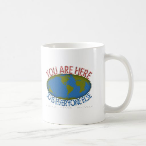 Usted es aquí ambiental taza