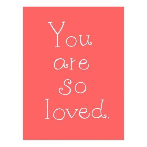 Usted es así que postal simple amada del amor de l