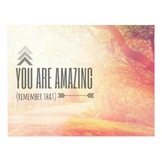 Usted es asombroso tarjeta postal