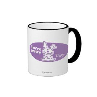 Usted es bonito feo tazas de café