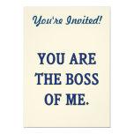 Usted es Boss de mí Invitación 12,7 X 17,8 Cm